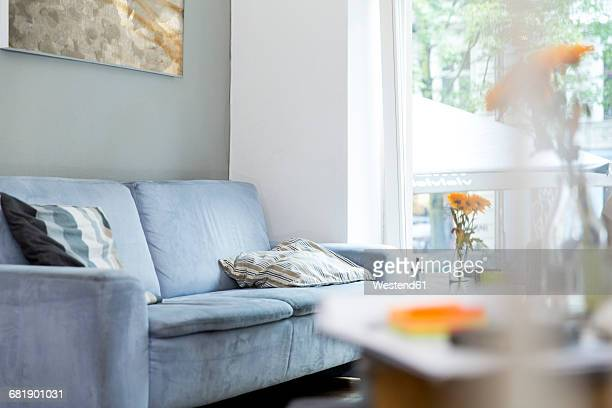 Empty couch in living room