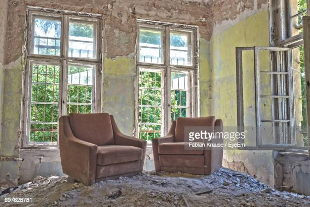 Empty Couches In Abandoned Home