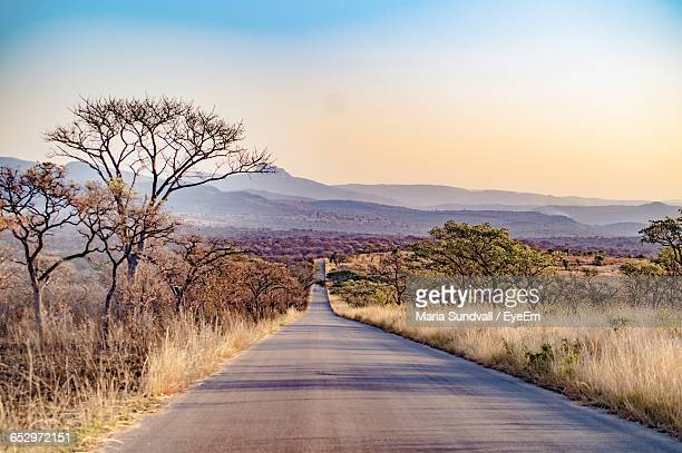 empty country road along landscape - mpumalanga province stock pictures, royalty-free photos & images