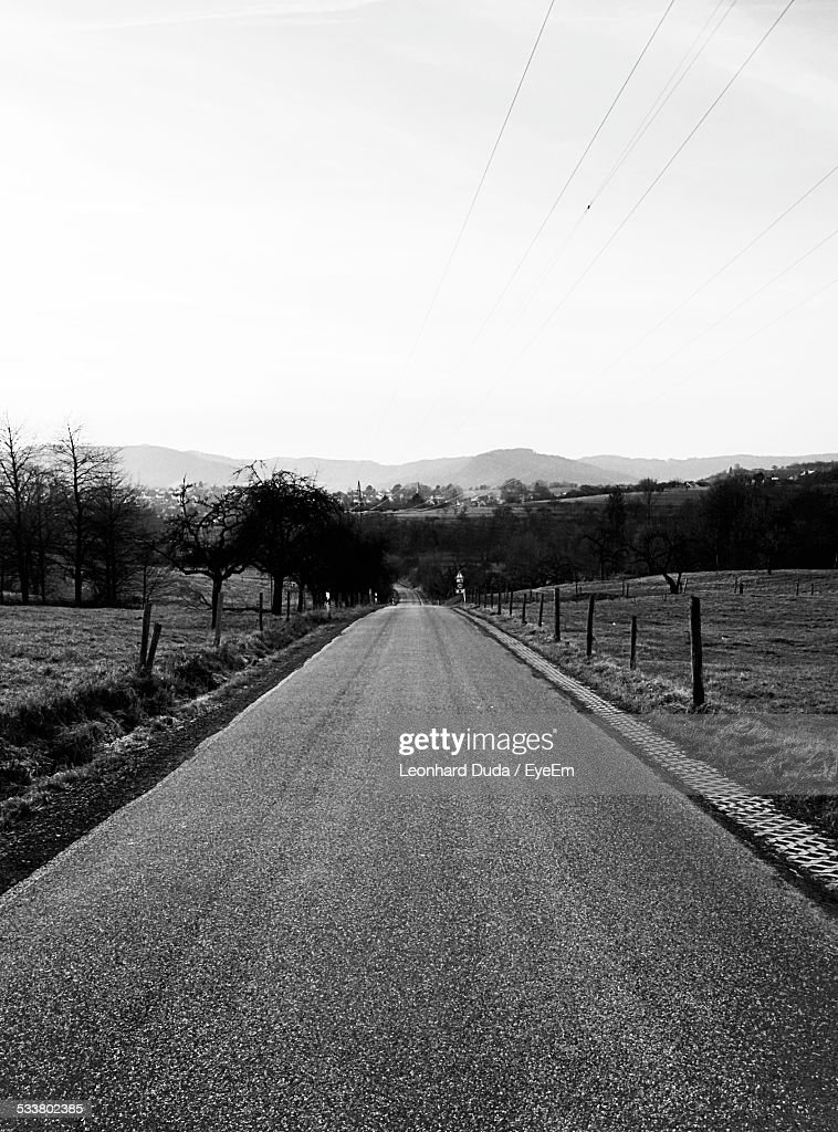 Empty Country Road : Foto stock
