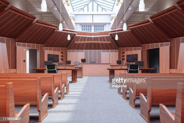 lege rechtszaal - rechtszaak stockfoto's en -beelden
