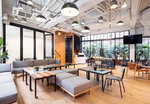 Empty coworking space in Hong Kong 1149706618