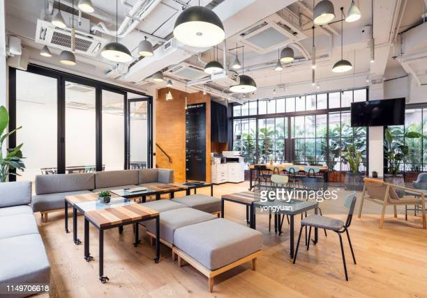 empty coworking space in hong kong - no people stock pictures, royalty-free photos & images
