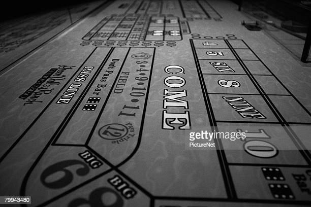 empty craps table - gambling table stock pictures, royalty-free photos & images