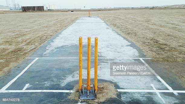 Empty Cricket Field