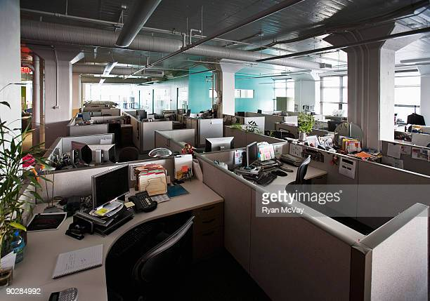 empty cubicles in office - office cubicle stock pictures, royalty-free photos & images