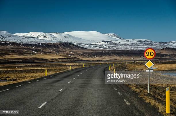 Empty curvy road