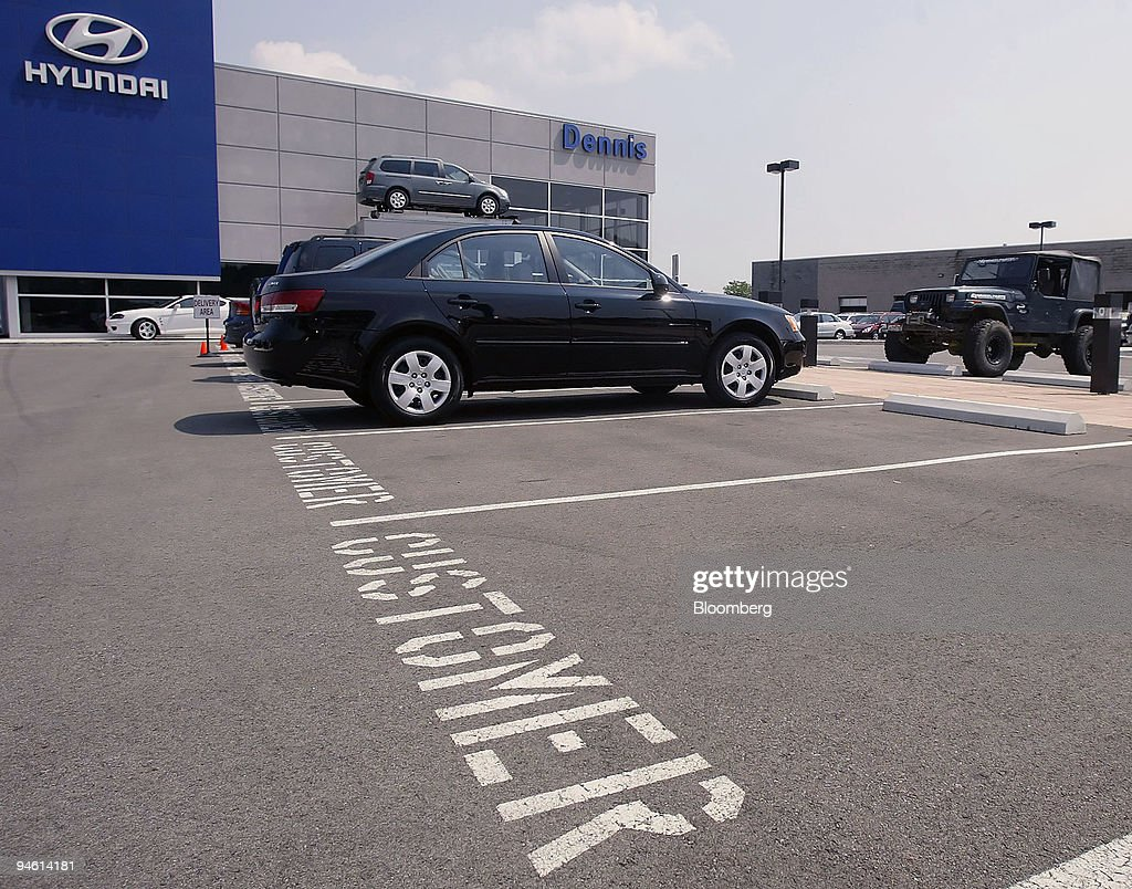 Empty Customer Parking Spots Await Vehicles Outside A Hyundai Dealership In  Columbus, Ohio, Thursday
