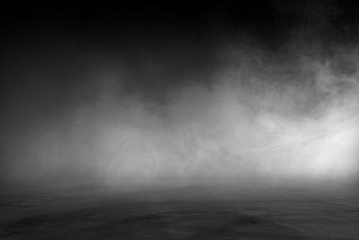 empty dark room abstract fog smoke glow rays wall and floor interior displays product 1152438400