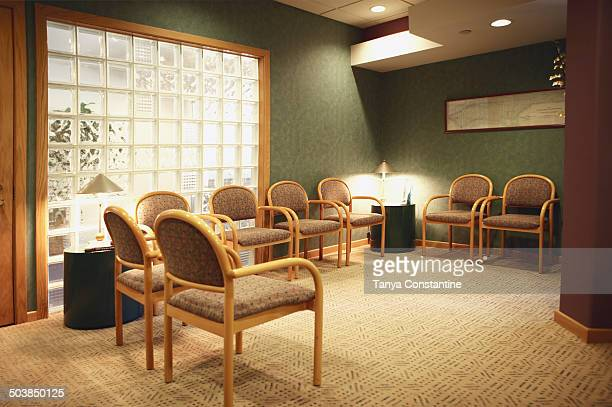Empty dental office waiting room