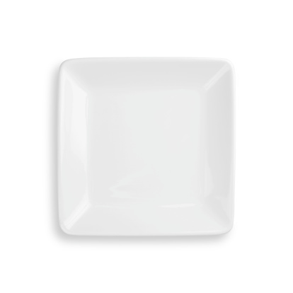 Empty dinner plate isolated on white with clipping path 182926371