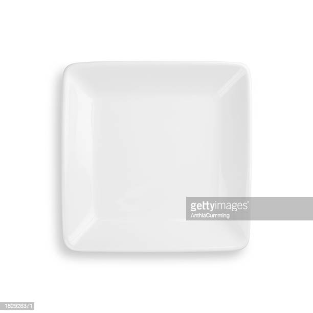 Empty dinner plate isolated on white with clipping path
