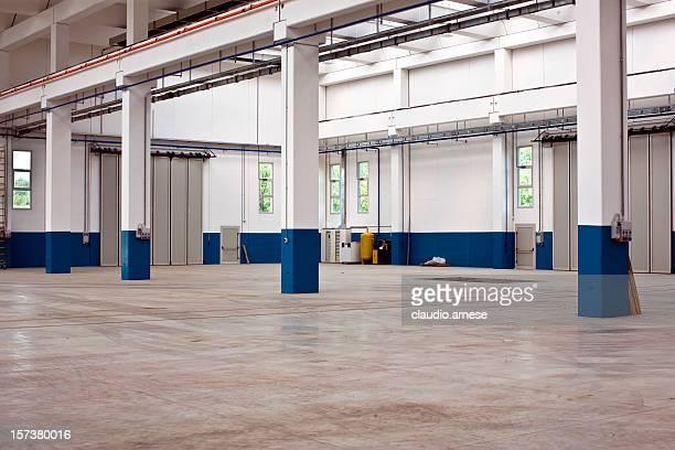 Empty Distribution Warehouse. Color Image