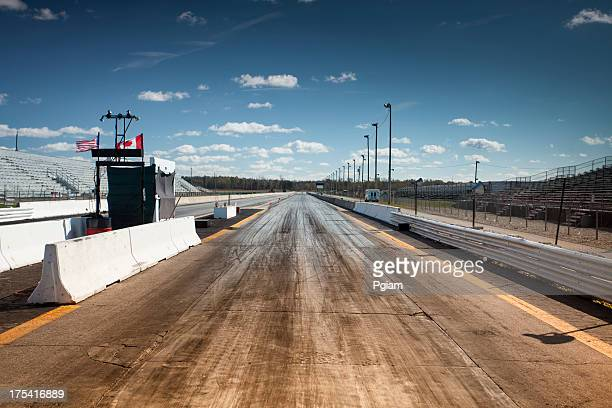 Empty drag racing strip