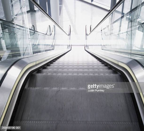 Empty escalator, elevated view