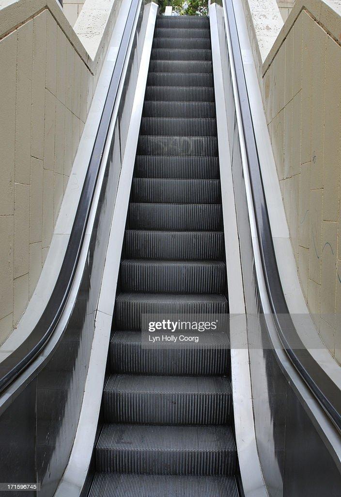 Empty escalator : Stock Photo
