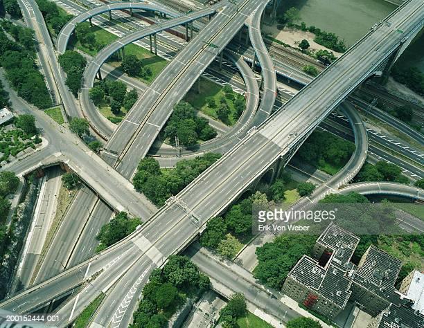 Empty expressway, aerial view (Digital Enhancement)