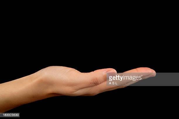 Femme main vide