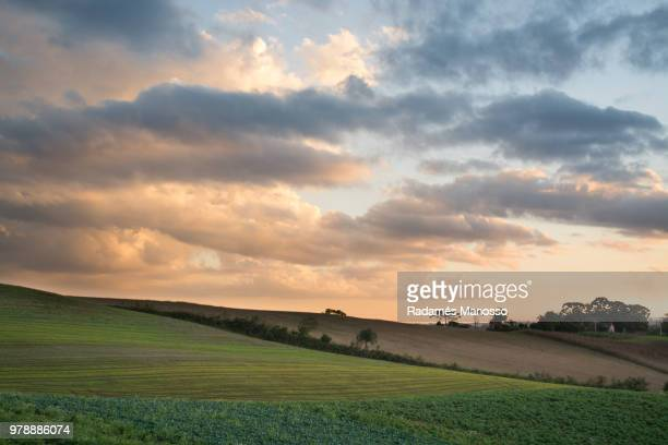 Empty field and clouds, Campo Magro, Brazil