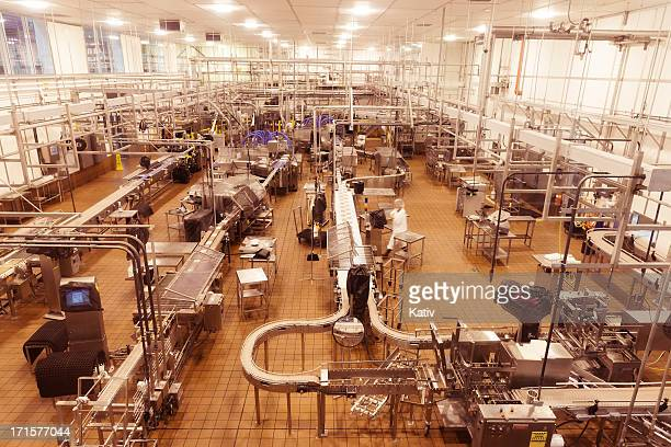 Empty food processing room