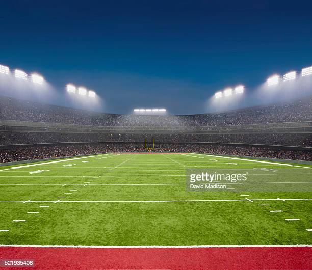 empty football field - football field stock pictures, royalty-free photos & images