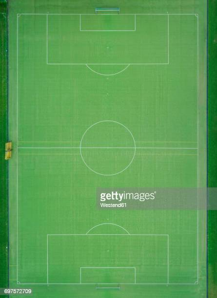 Empty football ground, top view