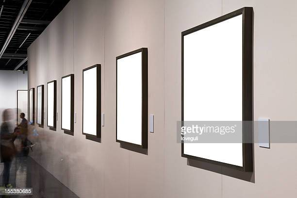 empty frame at the museum