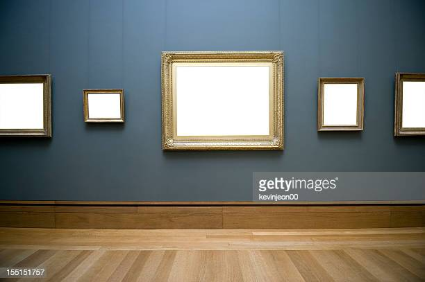 empty frame on wall - museum stock pictures, royalty-free photos & images