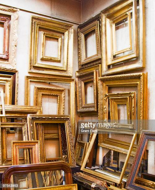 empty frames hanging on wall
