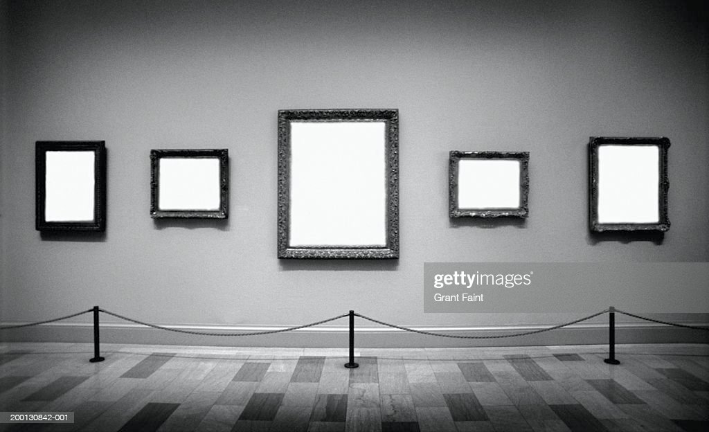 Empty Frames In Art Gallery Stock Photo | Getty Images