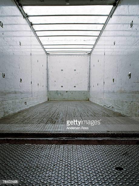 Empty freight truck