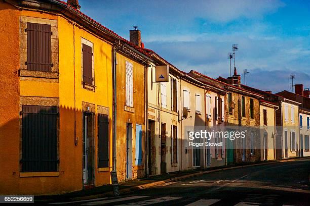 Empty French village street