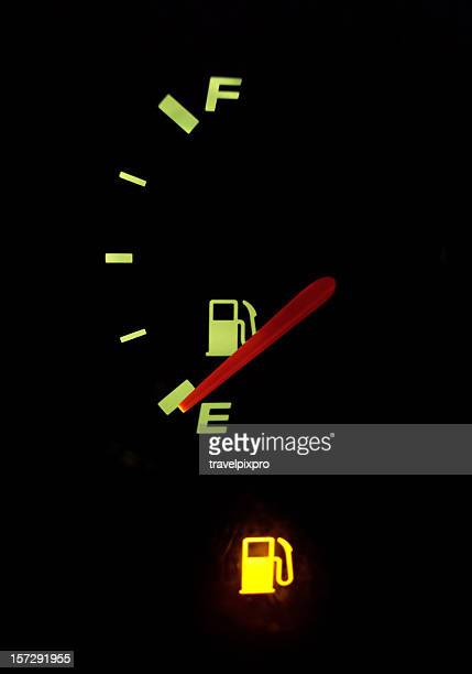 Empty Fuel Guage with Warning Light