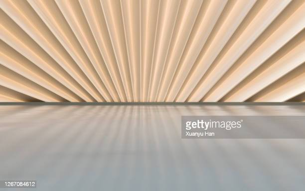 empty futuristic architectural background - beige foto e immagini stock