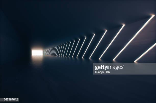 empty futuristic corridor background - architecture stock pictures, royalty-free photos & images