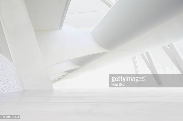 Empty futuristic interior