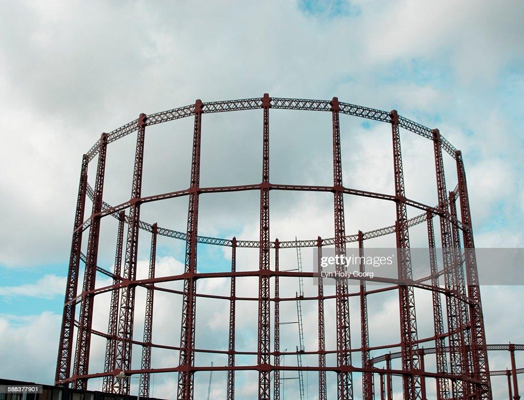 Empty gas storage facility : Stock Photo