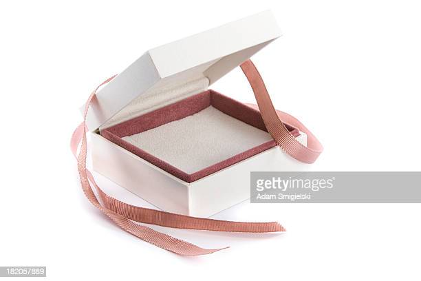 empty gift box - jewelry box stock pictures, royalty-free photos & images