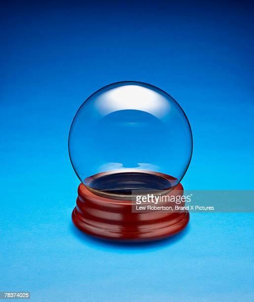 Empty glass globe