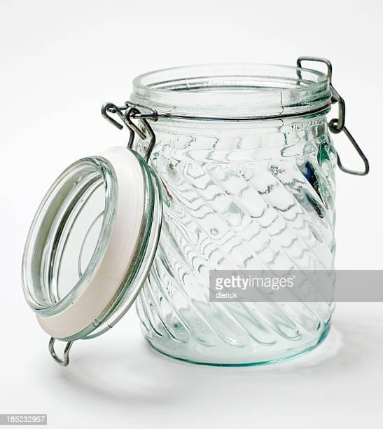 Leere Glas Jar abschließen-Nähte Deckel