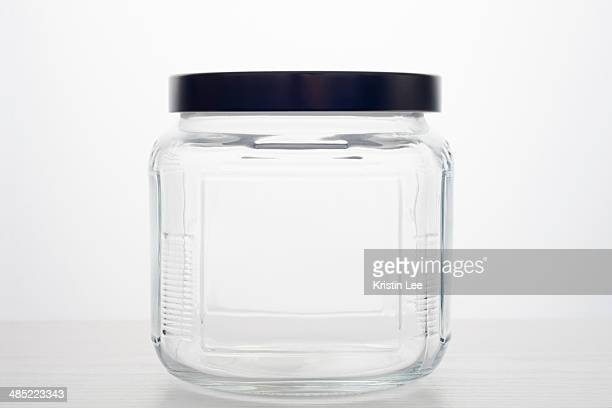 empty glass jar - jar stock pictures, royalty-free photos & images