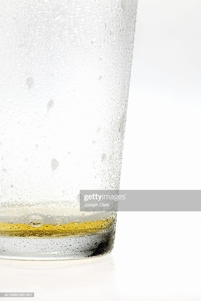 Empty glass of beer : Foto stock