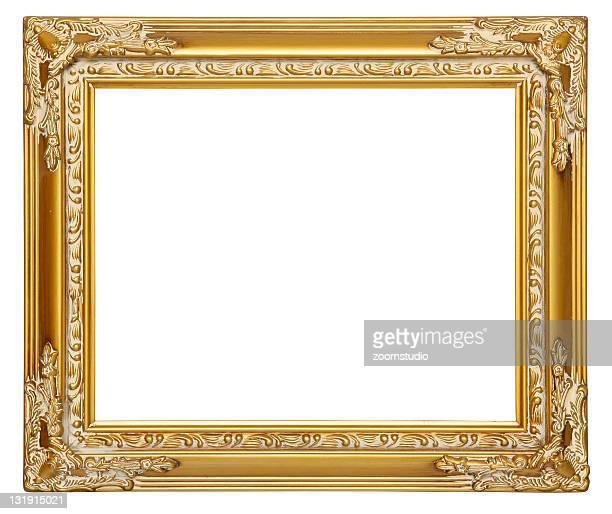 Cadre vide or [ avec des contours de détourage ]