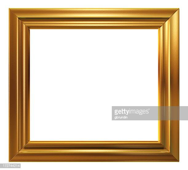 Empty golden frame