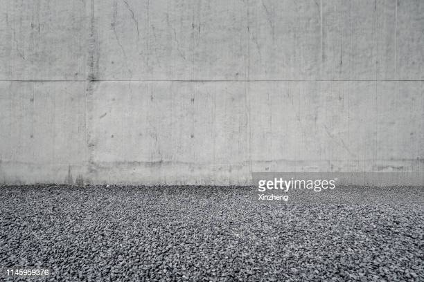 empty gravel parking lot - gravel stock pictures, royalty-free photos & images