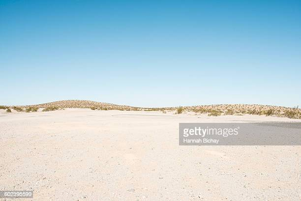 empty gravel space in the Nevada dessert