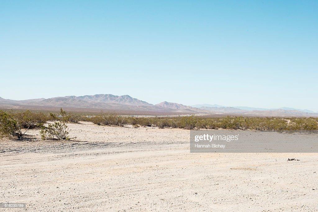 empty gravel space in the Nevada dessert : Stock Photo