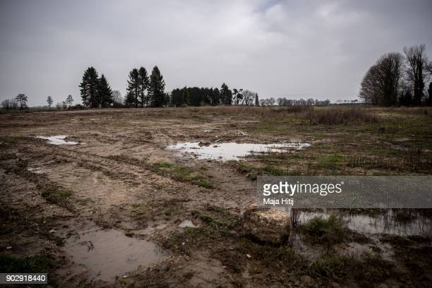Empty ground of village is seen on January 9 2018 in Immerath Germany The village of Immerath will be completely razed in order to make way for the...
