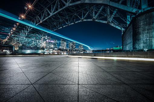 empty ground under Granville street bridge,Vancouver 1046863254