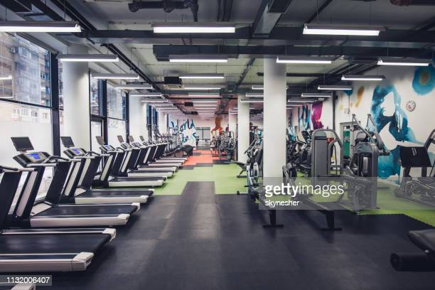 empty gym! - no people stock pictures, royalty-free photos & images